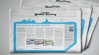 LOUIS INTERNET in der Lippischen Landes-Zeitung zur IHK Standortkampagne