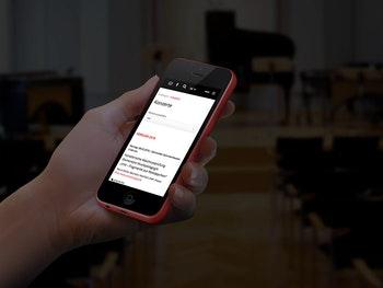 Konzertinformationen dank Optimierung für Smartphones auch unterwegs abrufbar
