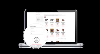 Umfangreiche Informationen und Filtermöglichkeiten zu allen Rassen und Fleischsorten
